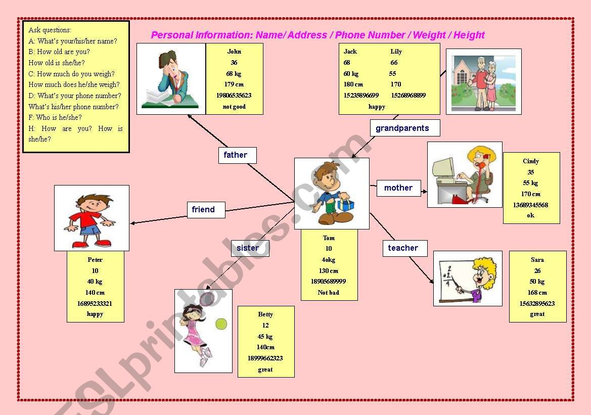 Basic Personal Information Fou Young Learners
