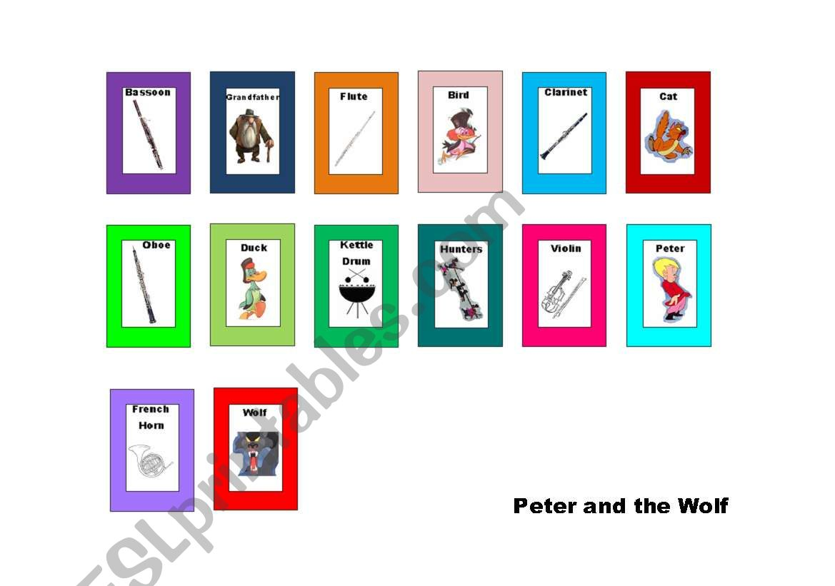 Peter And The Wolf Mini Flashcards