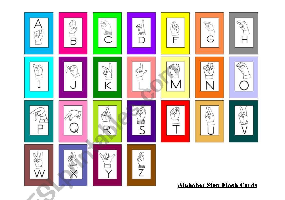 Mini Sign Language Flash Cards
