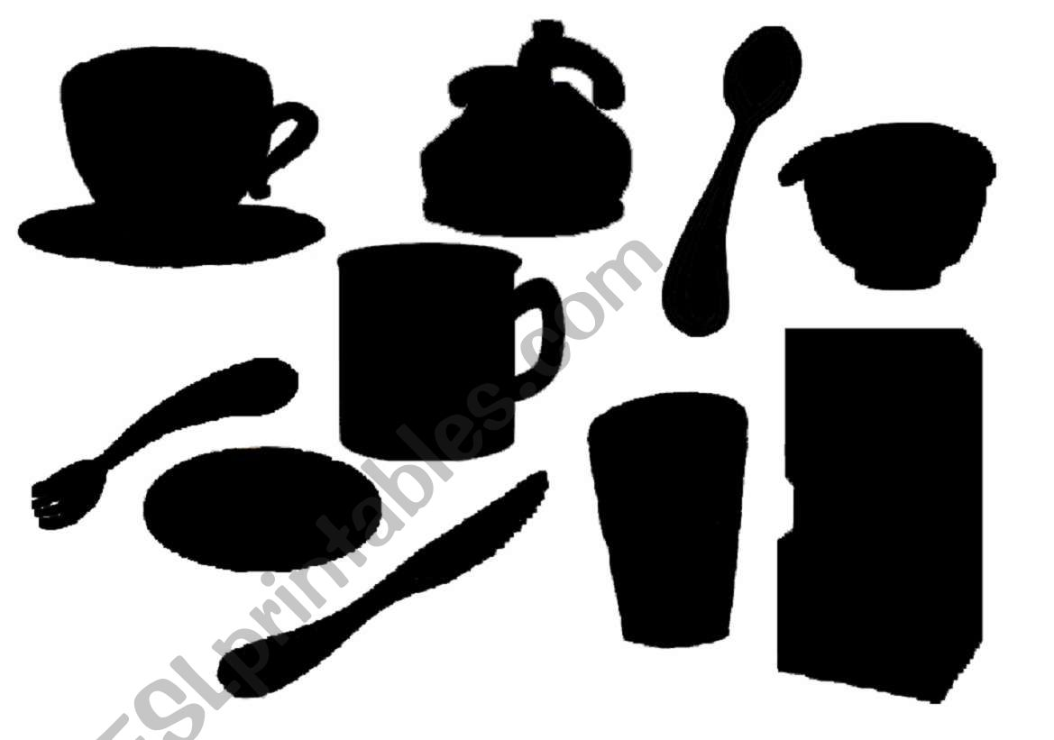 Kitchen Items Shadows