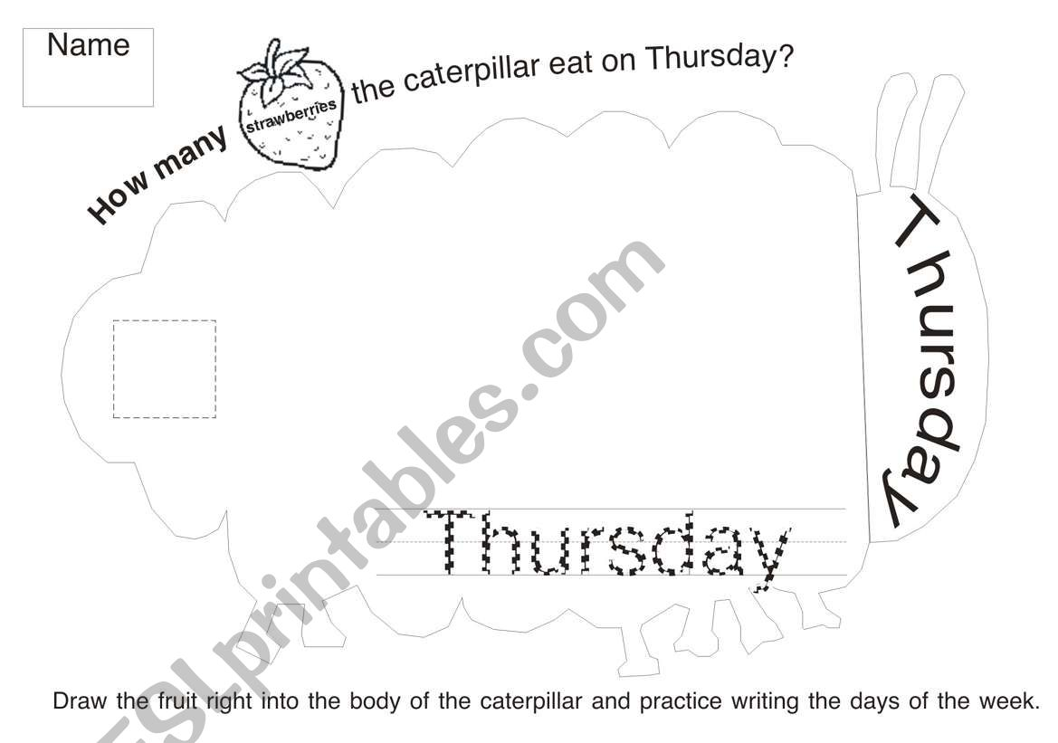 The Very Hungry Caterpillar Worksheet 4