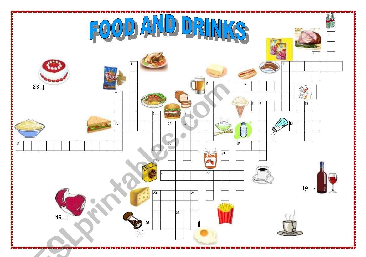 Food And Drinks Crossword