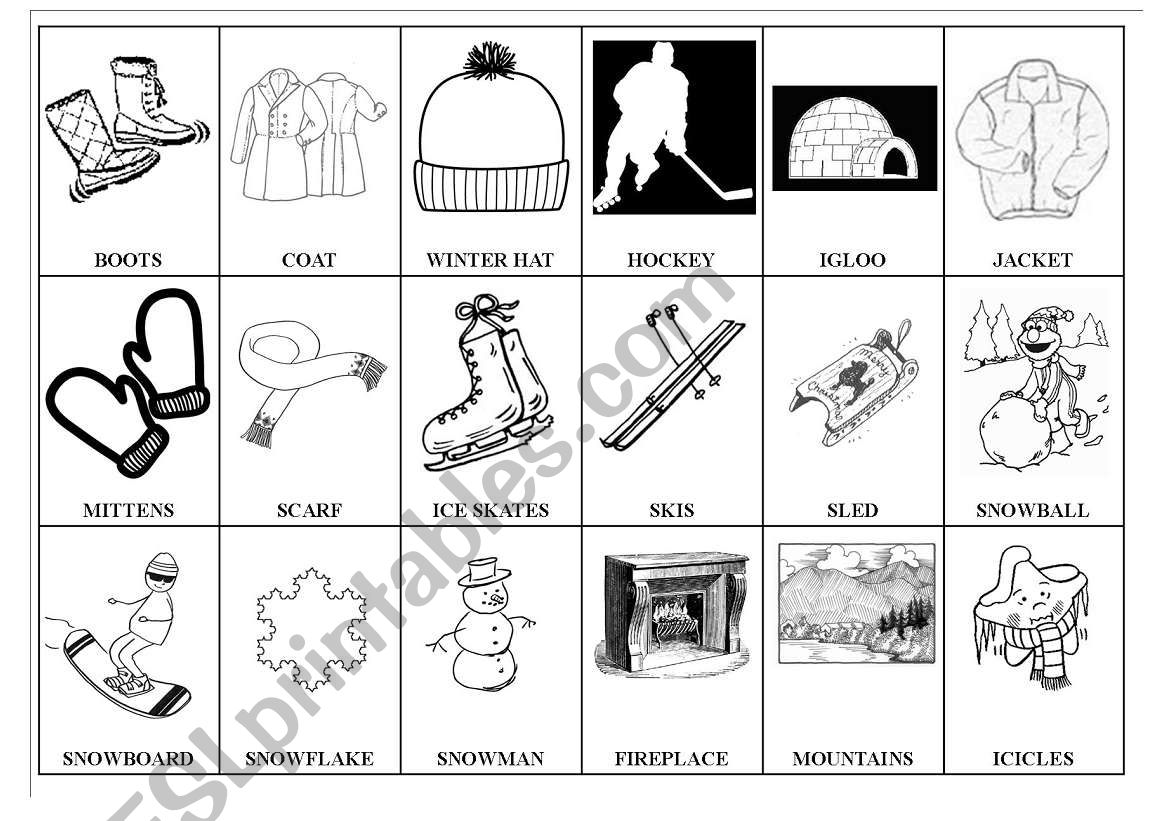 Winter Pictionary