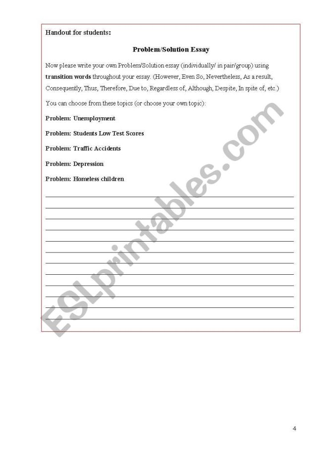 Essay Problem Solution About Homeless Vets With Helping