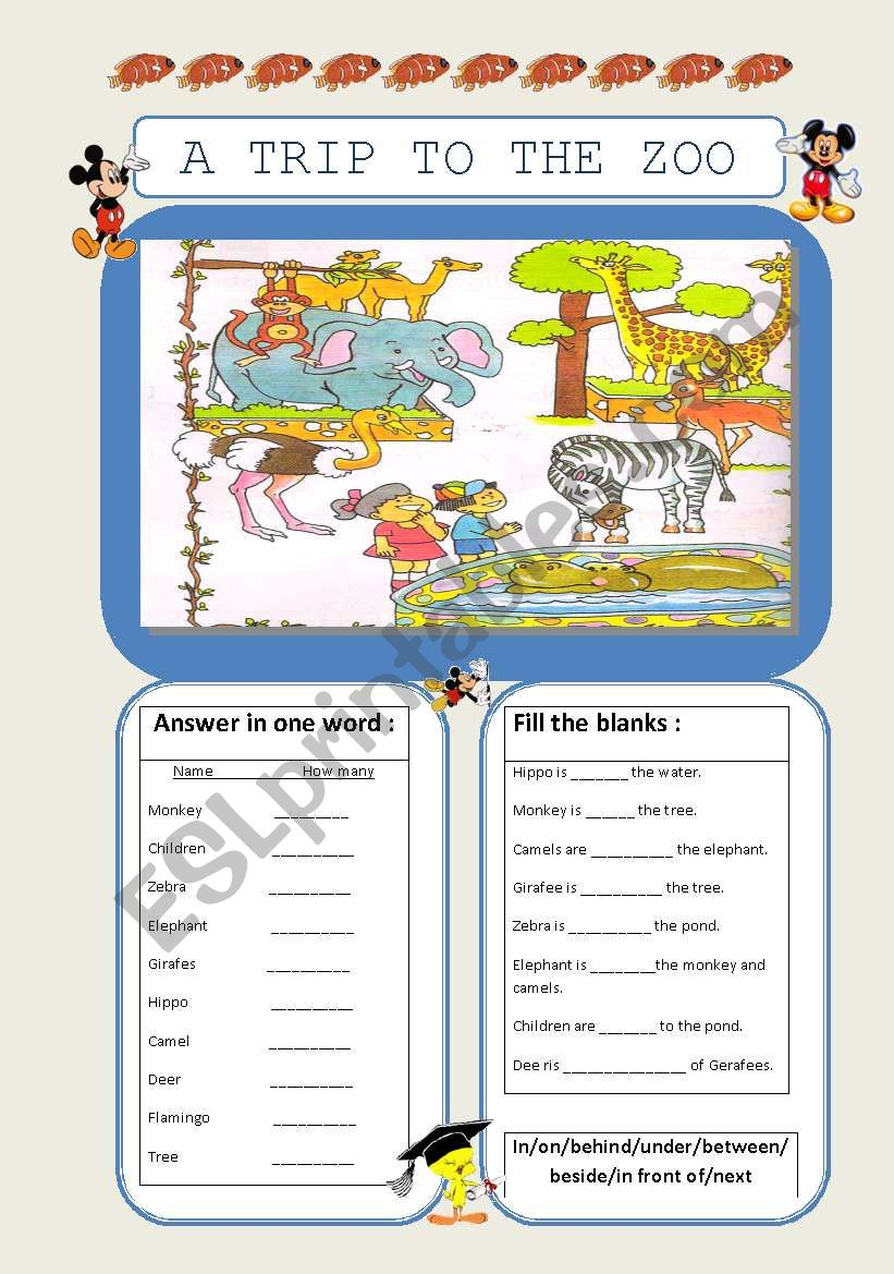 English Worksheets Picture Composition