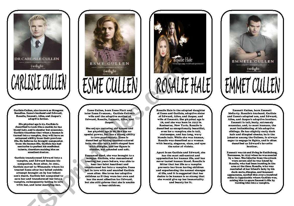 Twilight Saga Main Characters Part 2