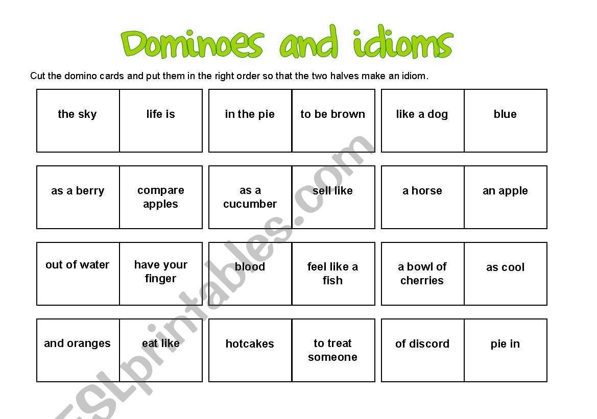 Idiom Dominoes