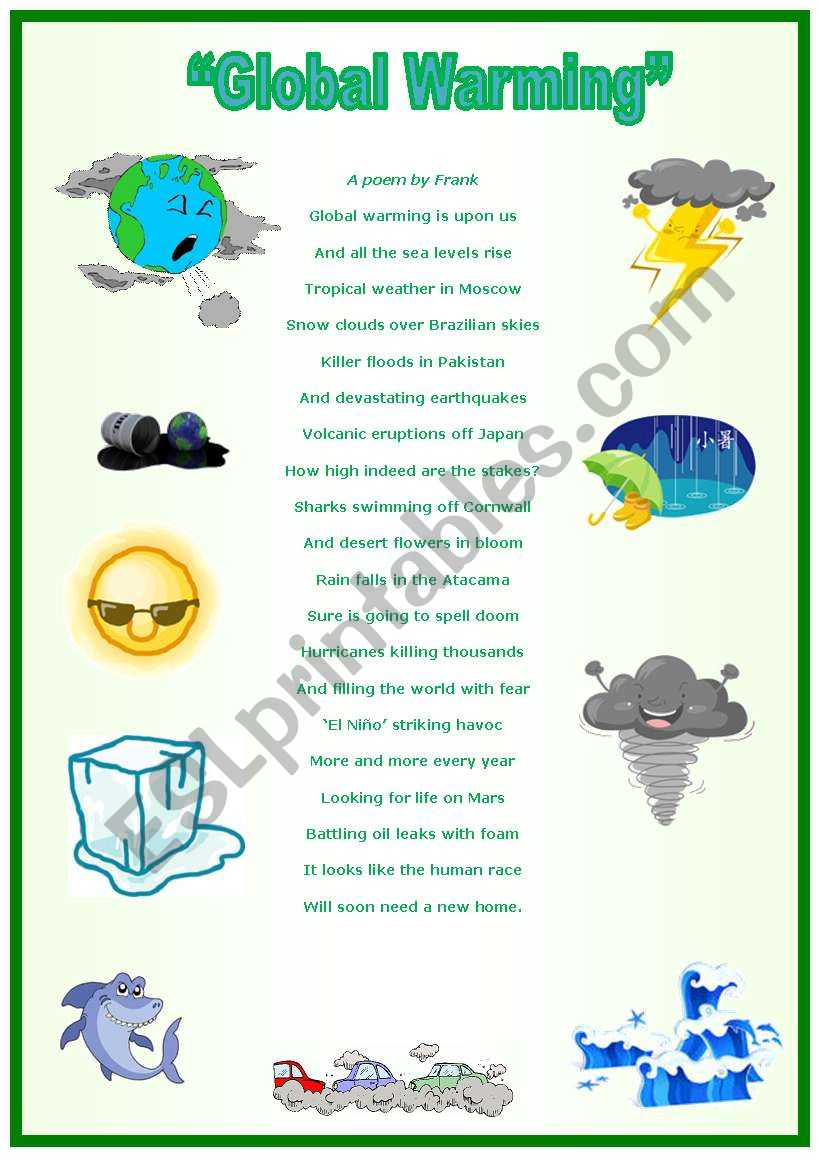 Printable Pictures Global Warming