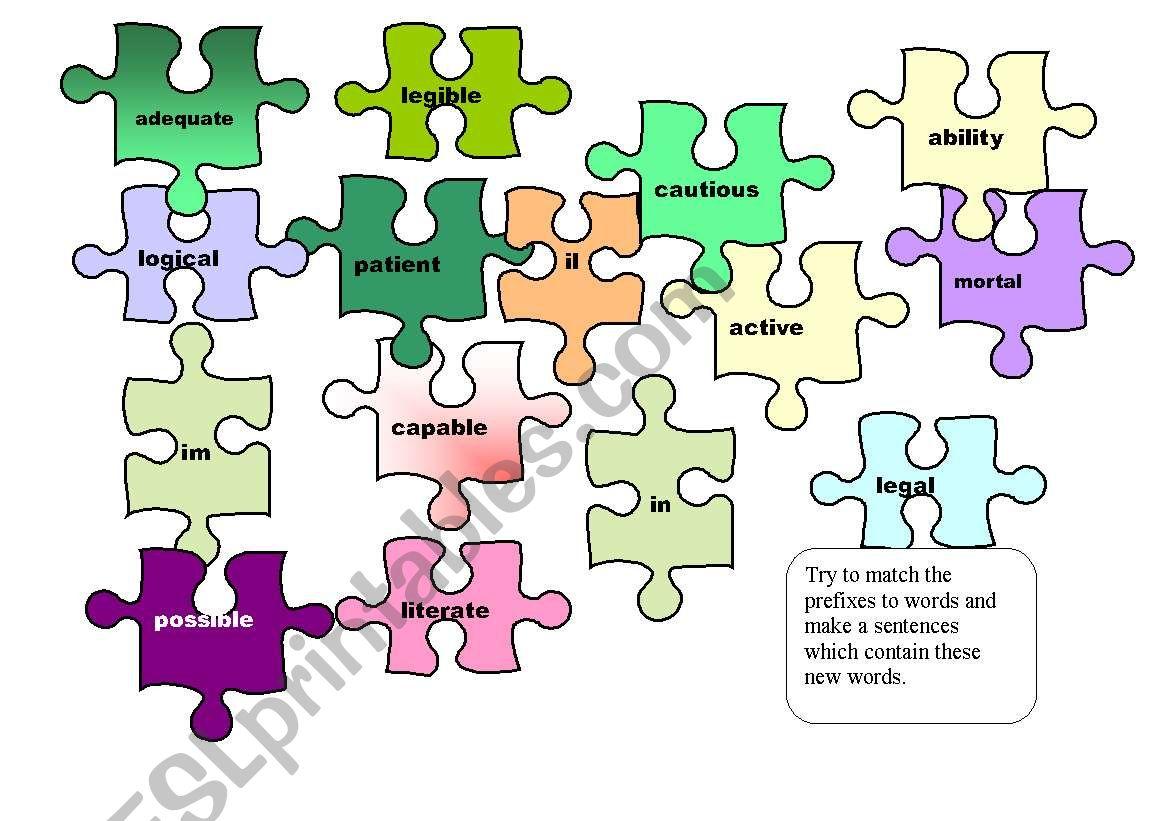 Puzzle For Prefixes