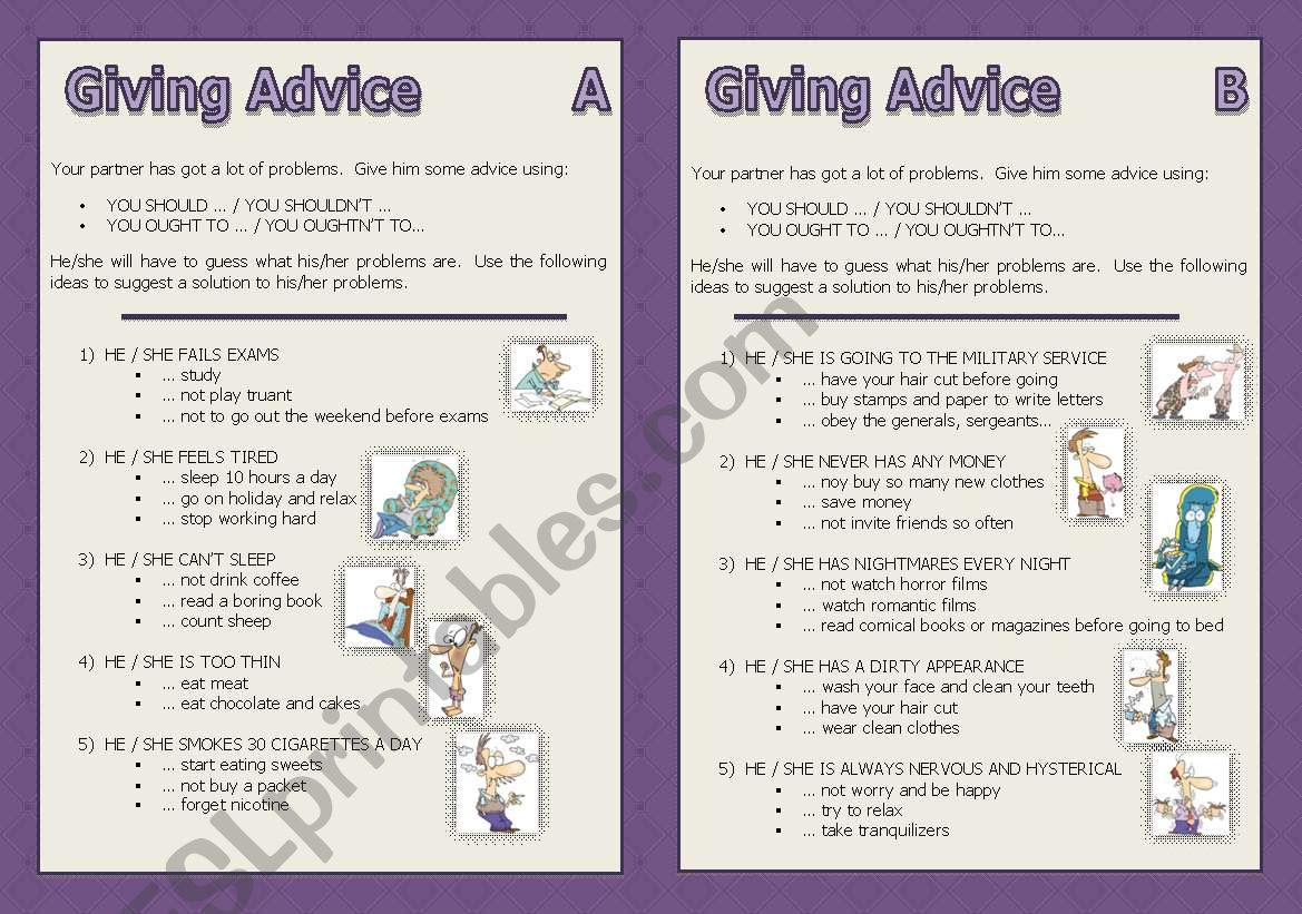 Modal Verbs Giving Advice Should N T Ought N T To