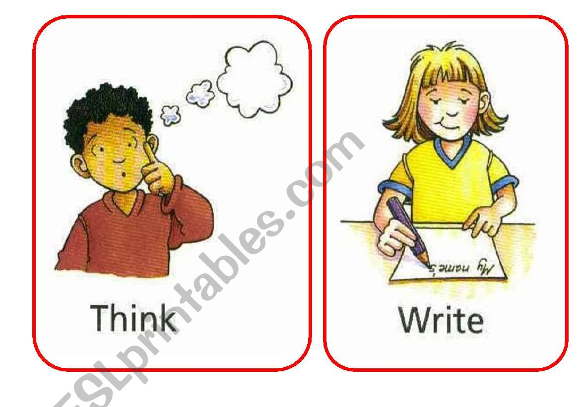 Flash Cards Or Posters For Classroom Action Verbs