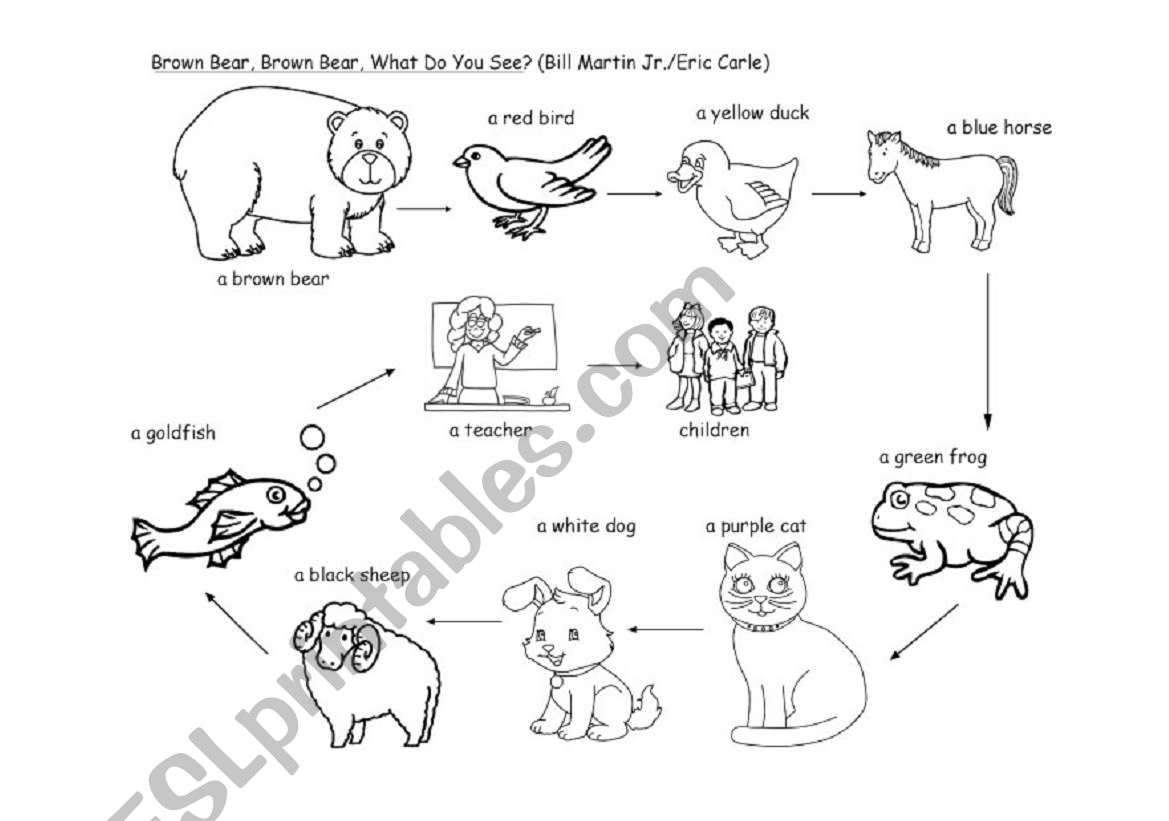 Brown Bear Colouring Page