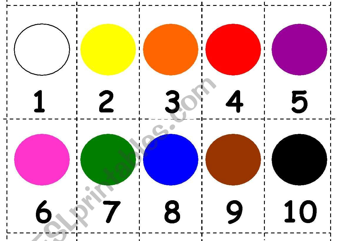 Numbers And Colours Mini Flashcards Games