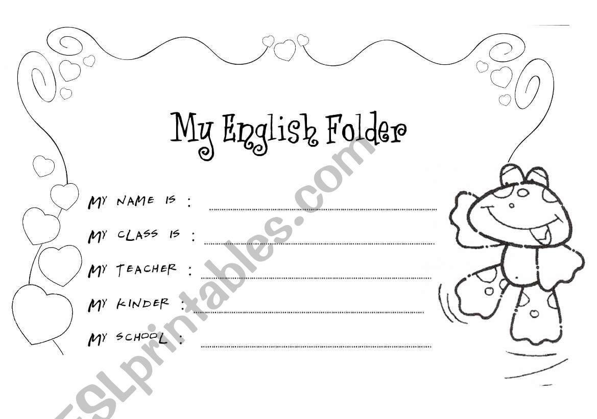 My English Folder