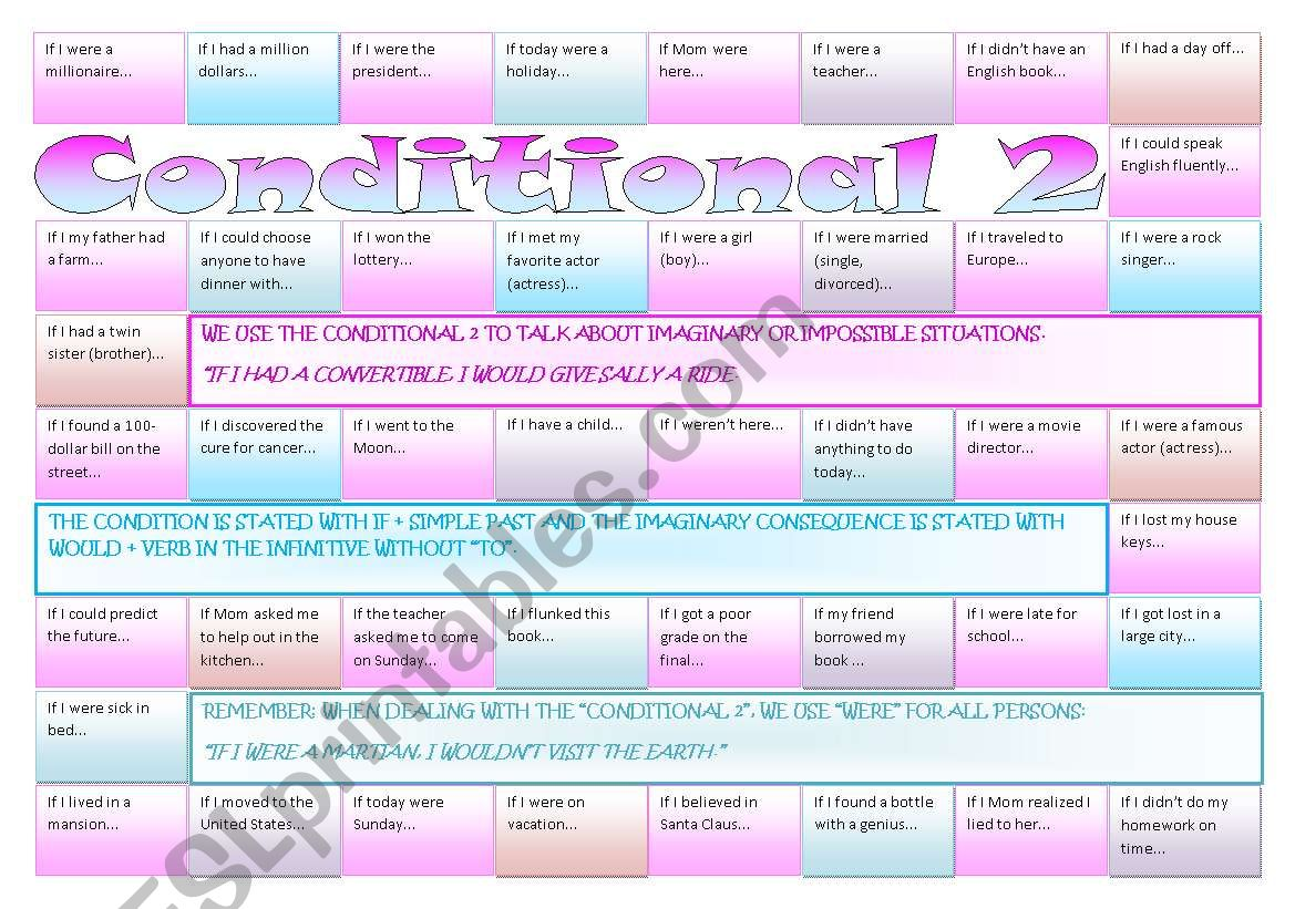 Boardgame Conditional 2 Fully Editable