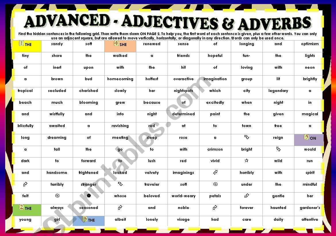 Adjectives Amp Adverbs