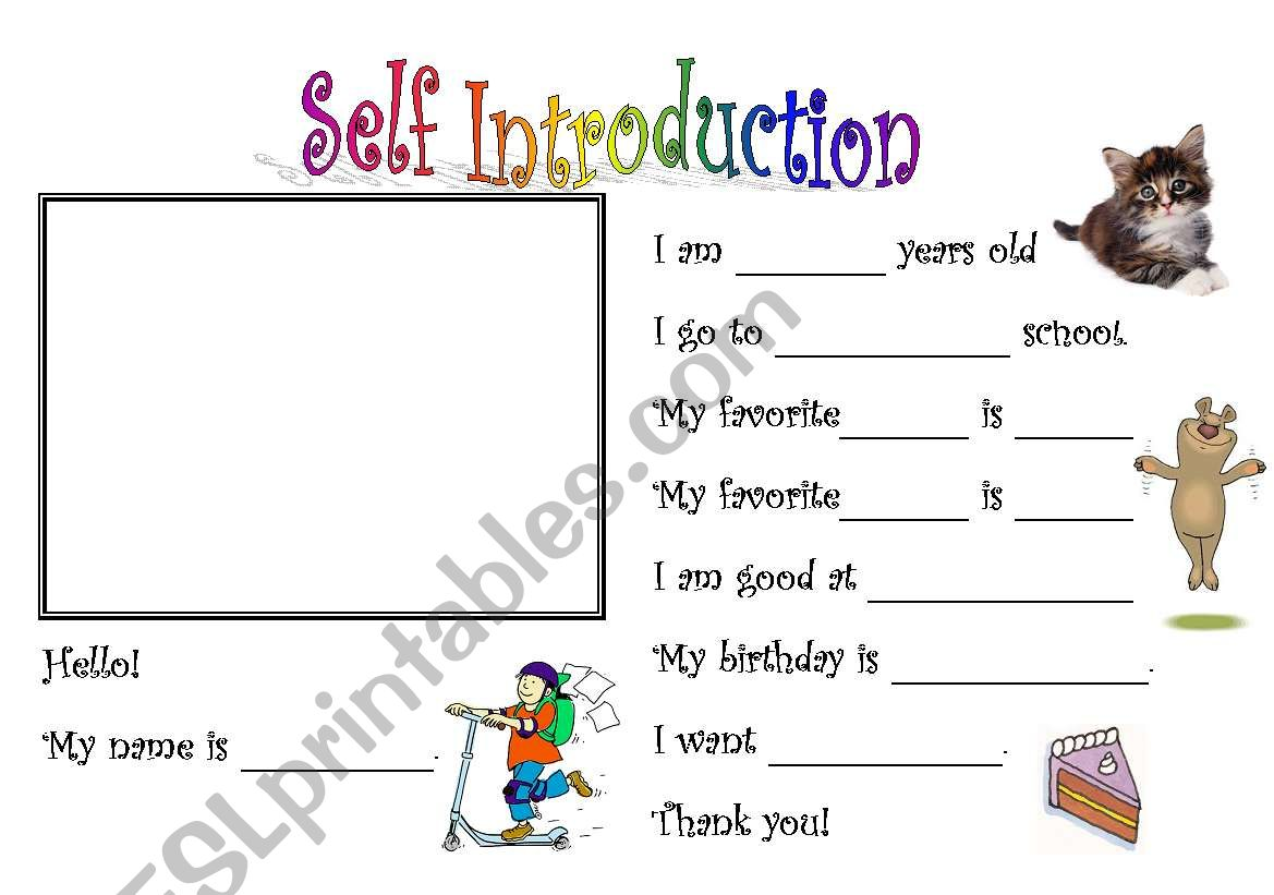 Self Introduction 1