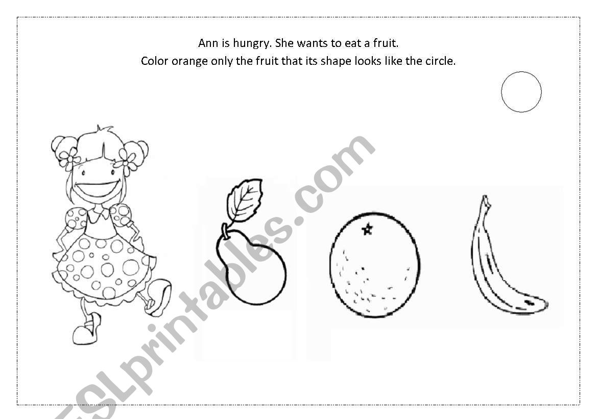 English Worksheets Shape Circle