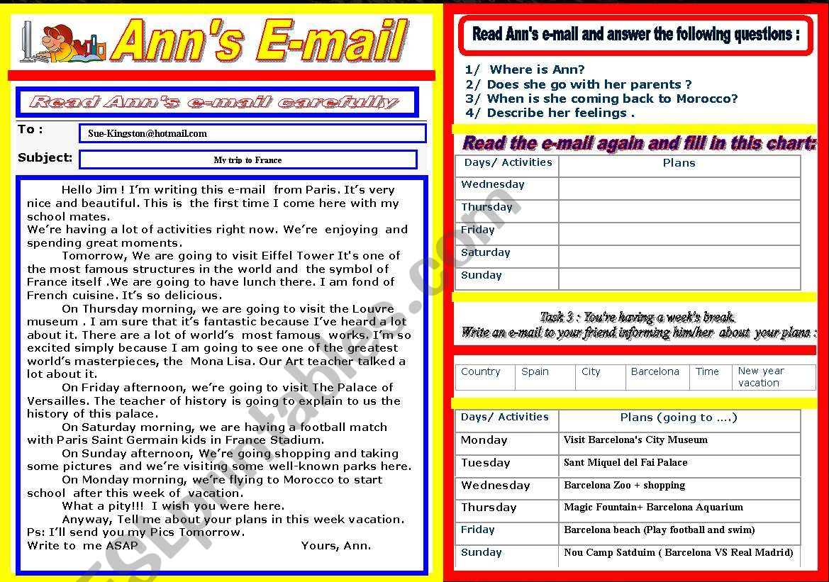 Email Guided Writing Future Plans
