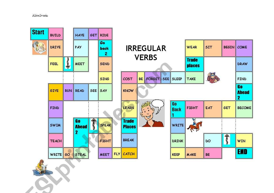 Irregular Verbs Gameboard
