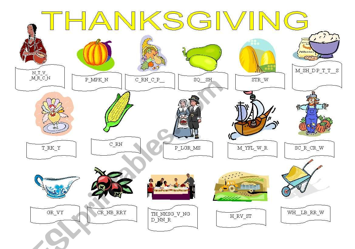 Thanksgiving Exercises