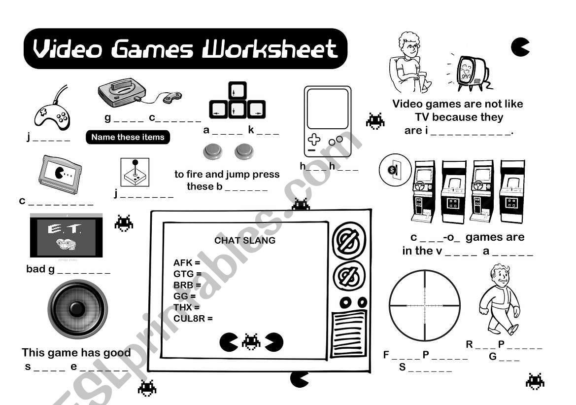 Vocabulary Worksheet Esl