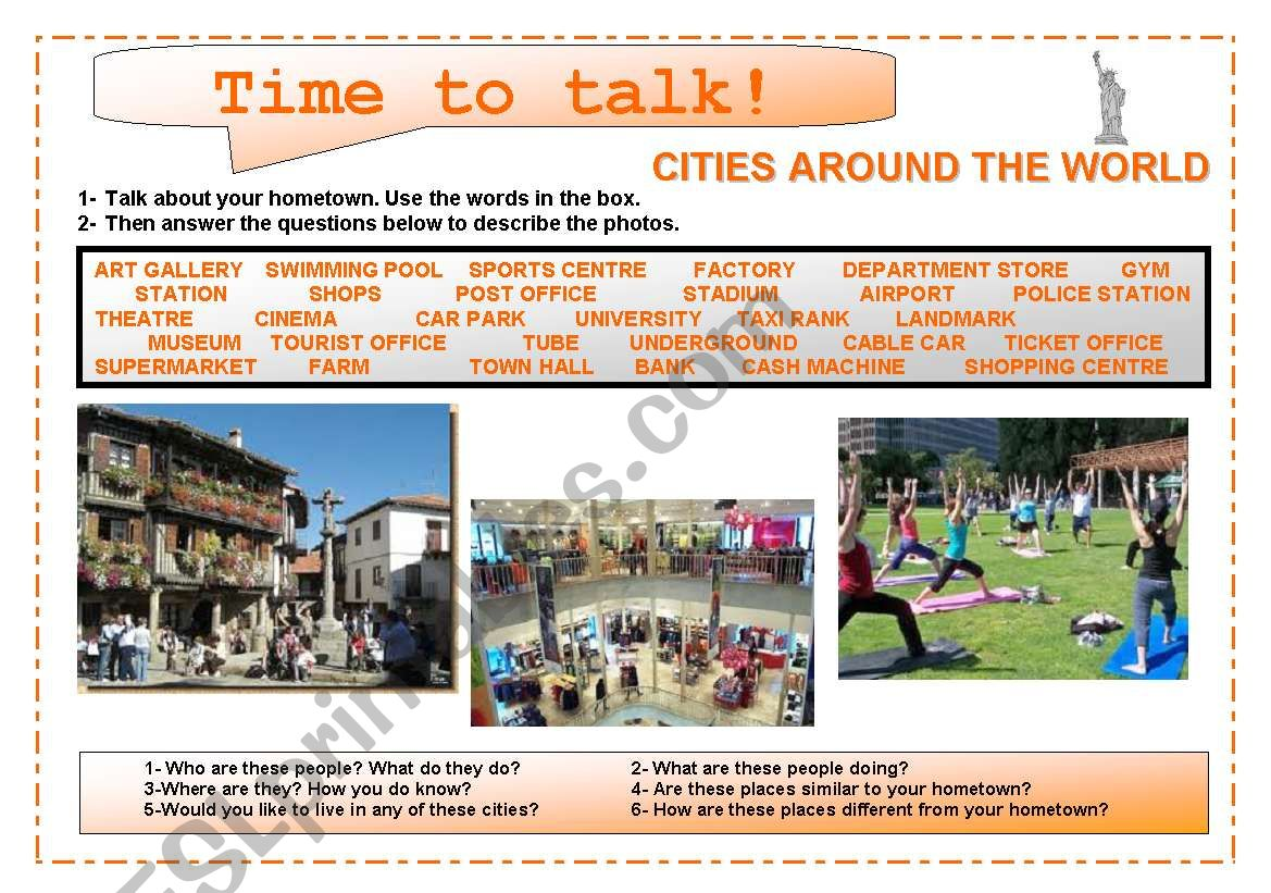 Time To Talk 6 Cities Around The World