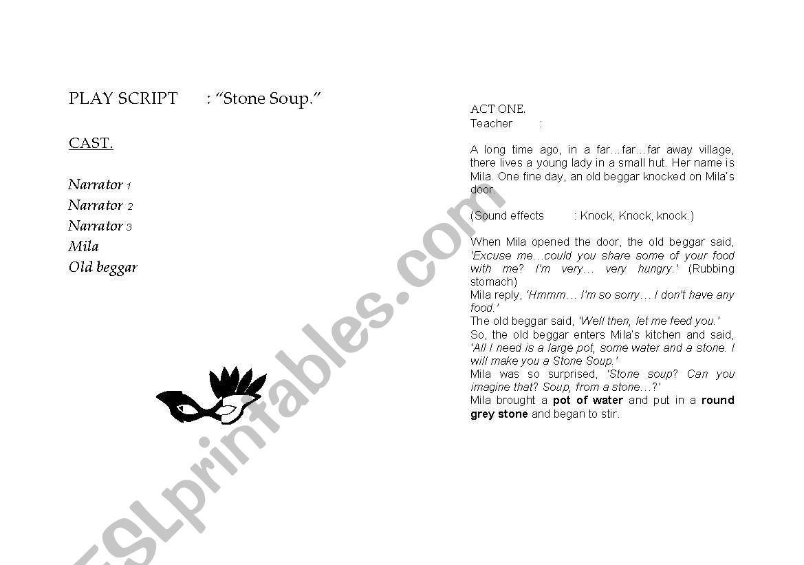 Play Script Stone Soup