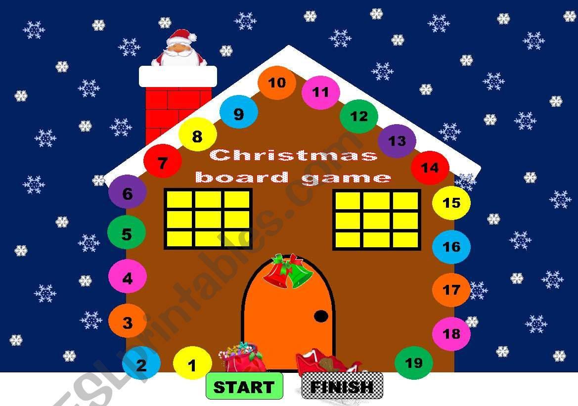 Christmas Board Game Christmas Game