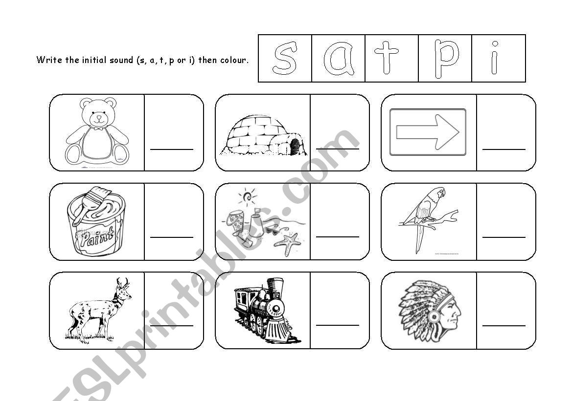 Letter P Initial Sound Worksheet