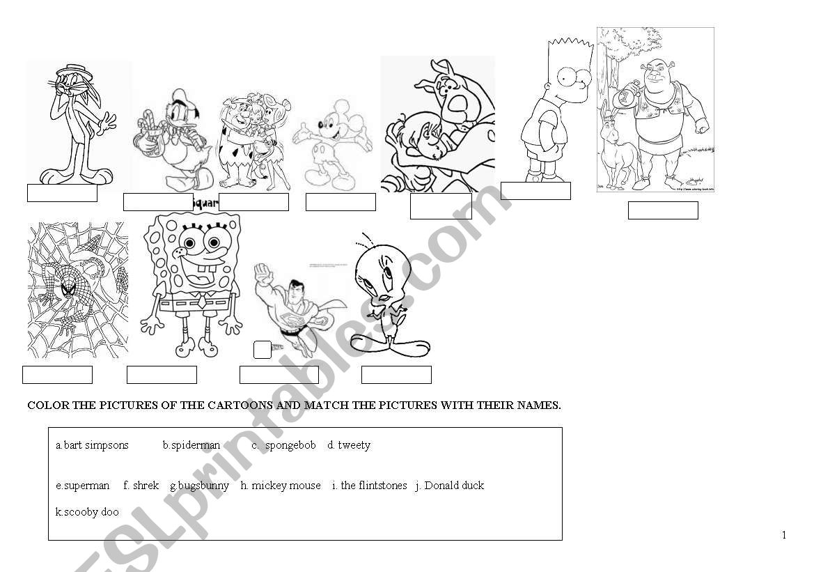 Worksheet For Students Cartoons
