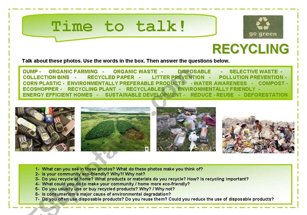 Time To Talk 11 Recycling