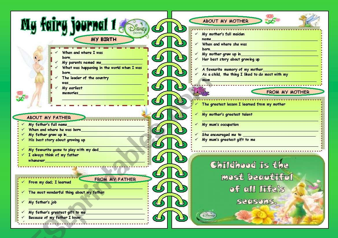 My Fairy Journalrt 1 2pages