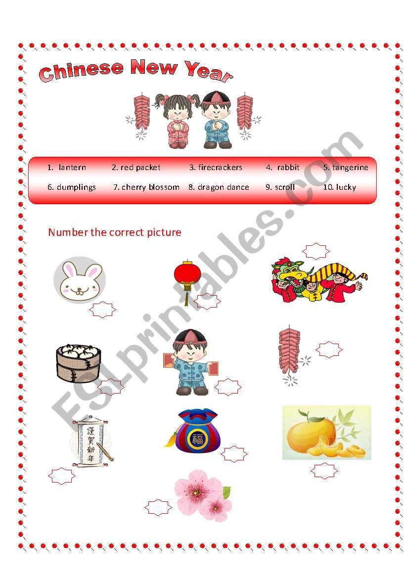 Chinese New Year Vocabulary