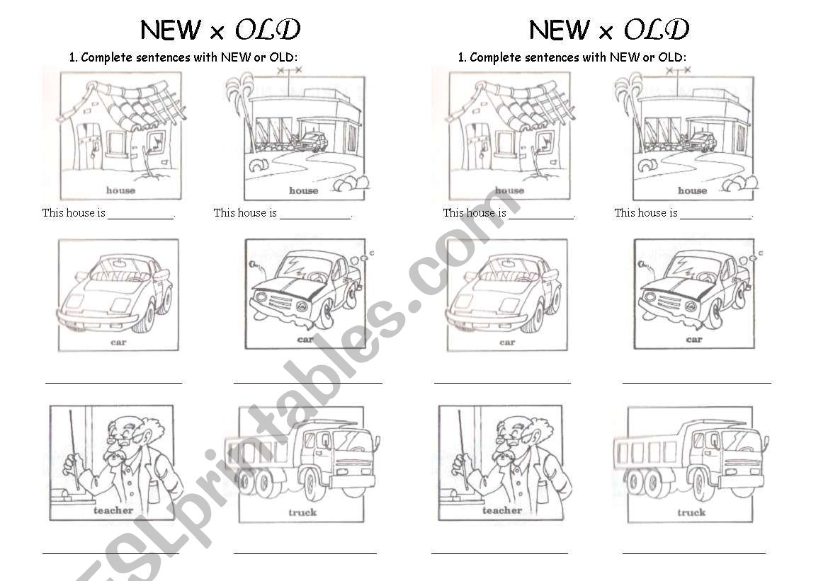 English Worksheets New X Old