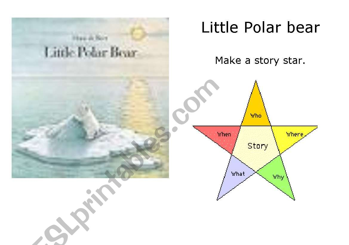 English Worksheets The Little Polar Bear