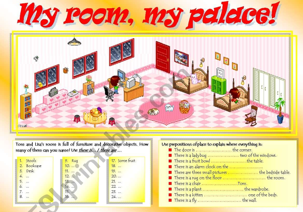 There Is Are Furniture Amp Prepositions Of Place Part I