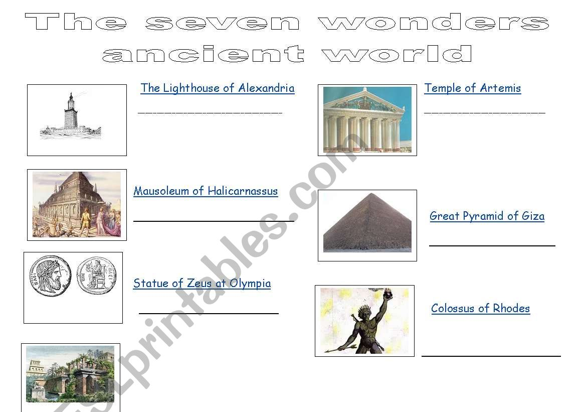The Seven Wonders Of Ancient World