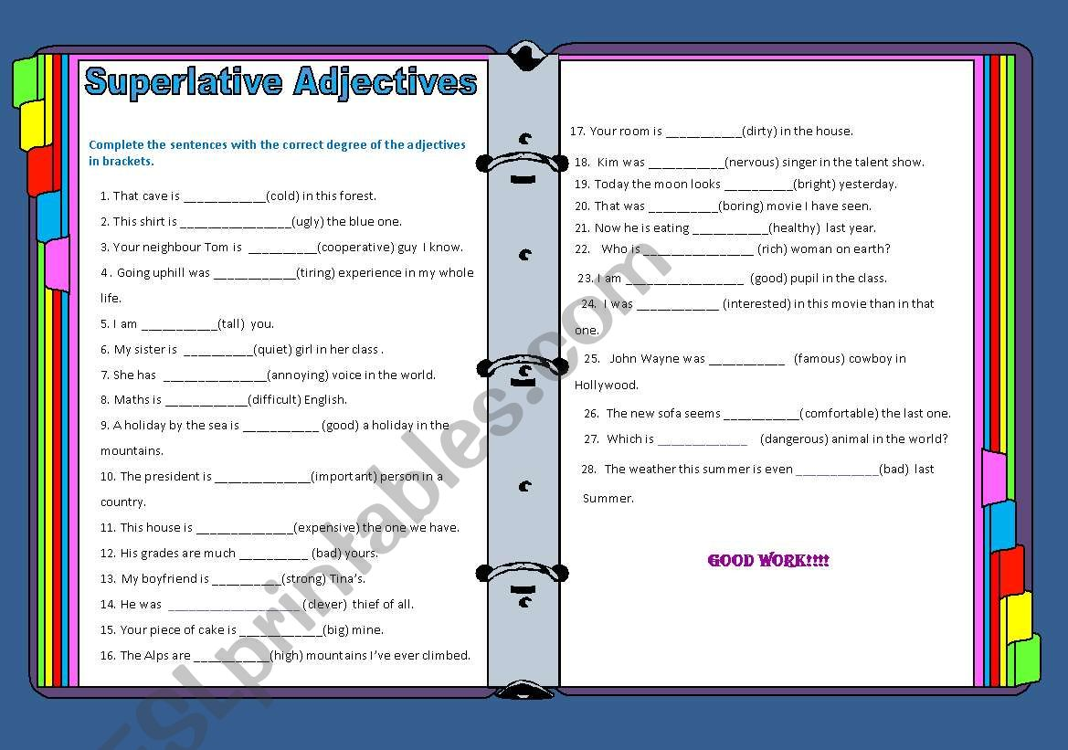 Degrres Of Adjectives