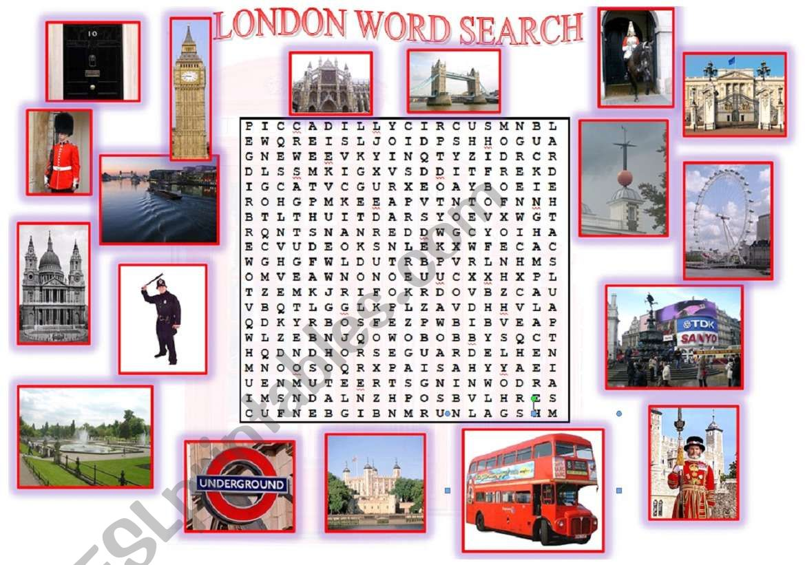 London Word Search 2