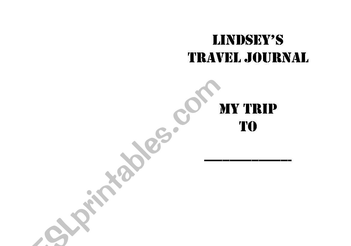 English Worksheets Travel Journal
