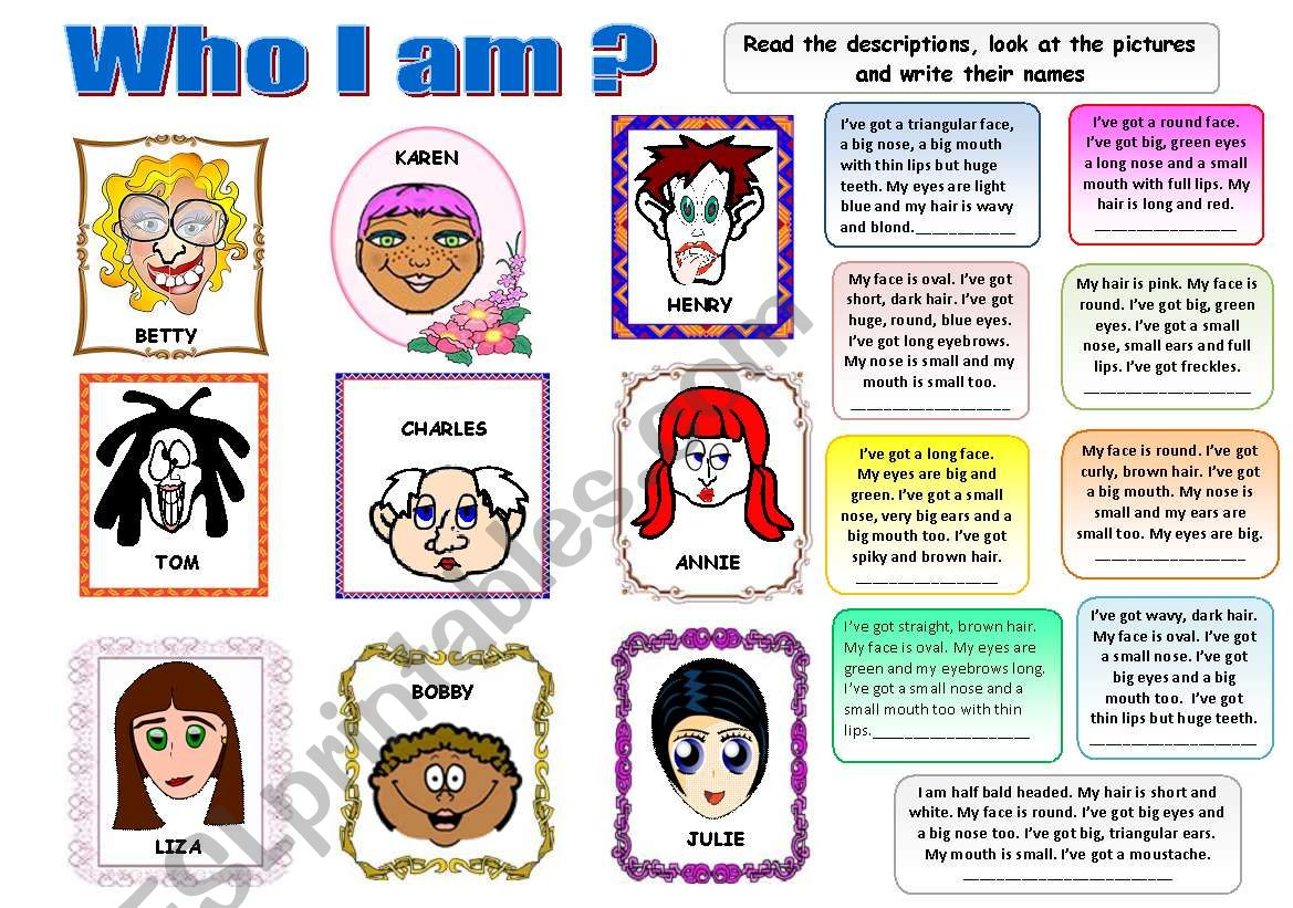 Who I Am Physical Description