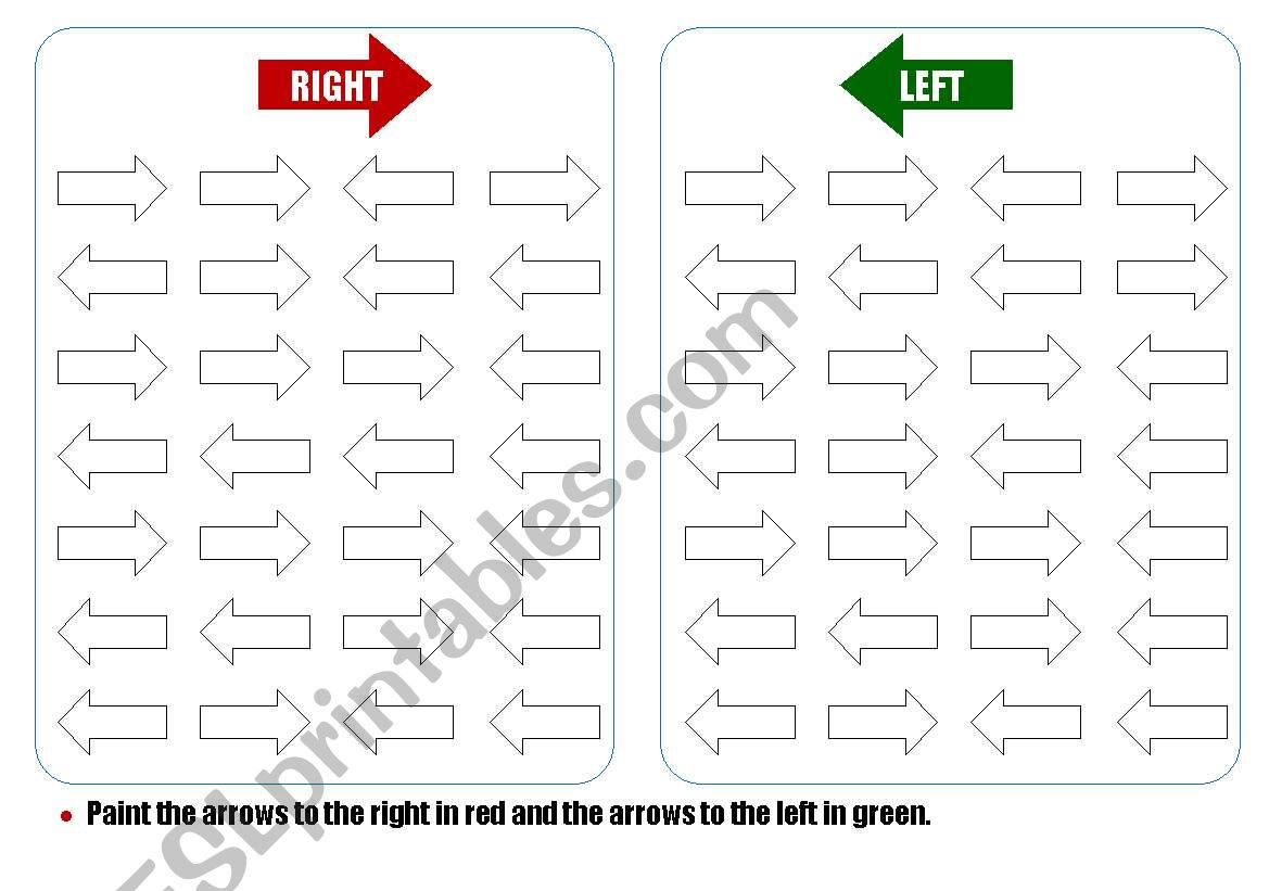 Right Left Discrimination Worksheet