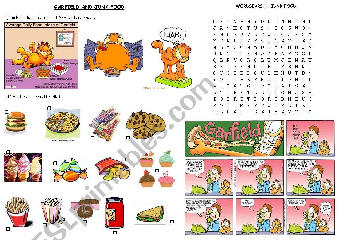 Garfield And Junk Food