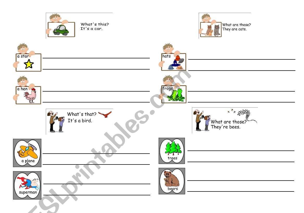 English Worksheets Demonstrative Pronouns