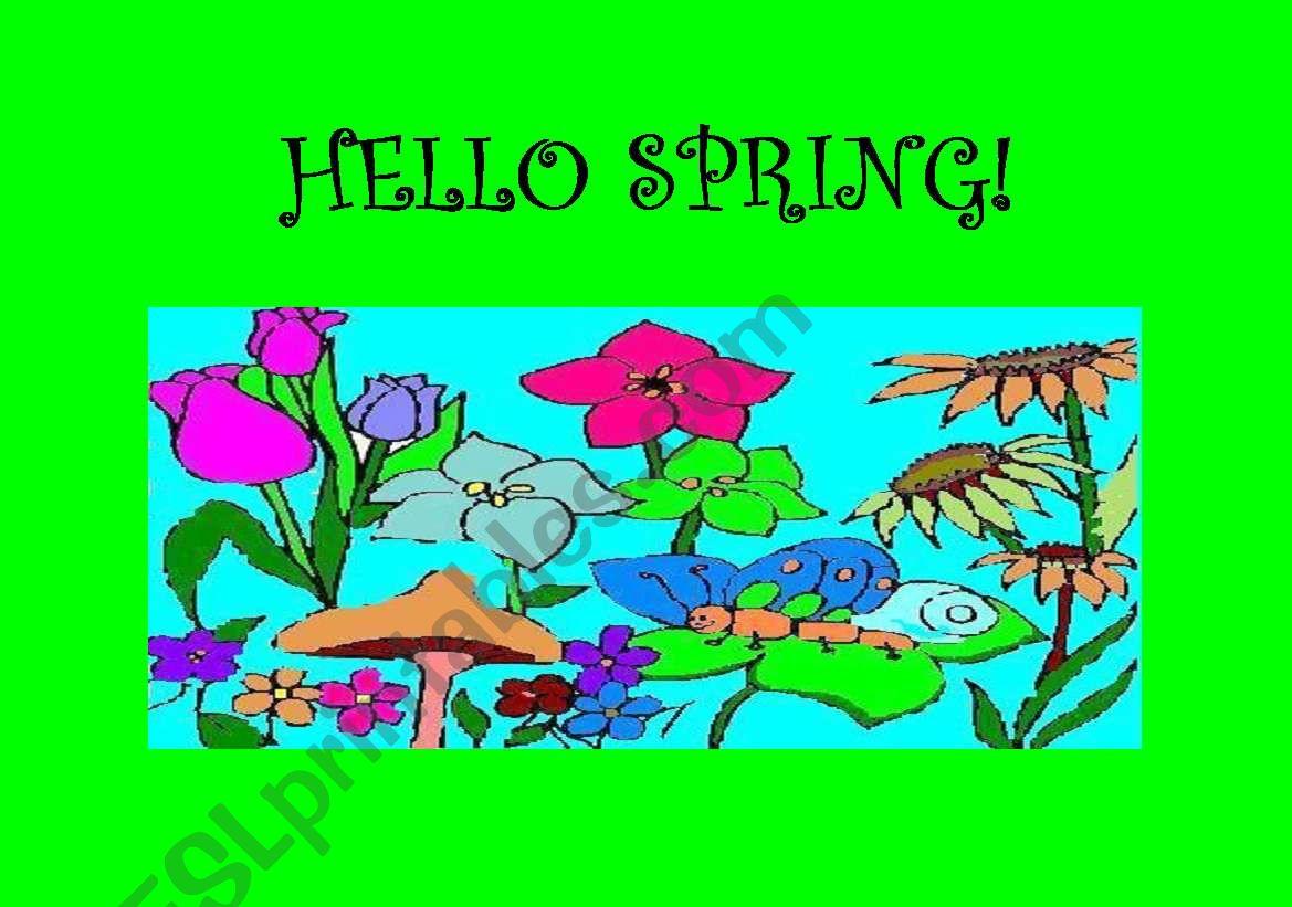 English Worksheets Spring Flashcards