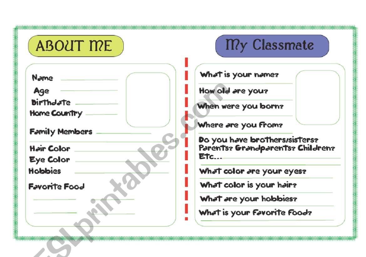 Describe Your Classmate