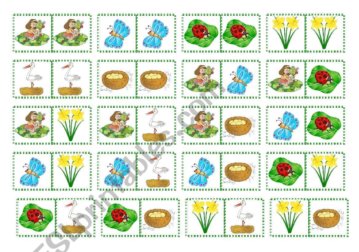 Spring Domino 2 Pages