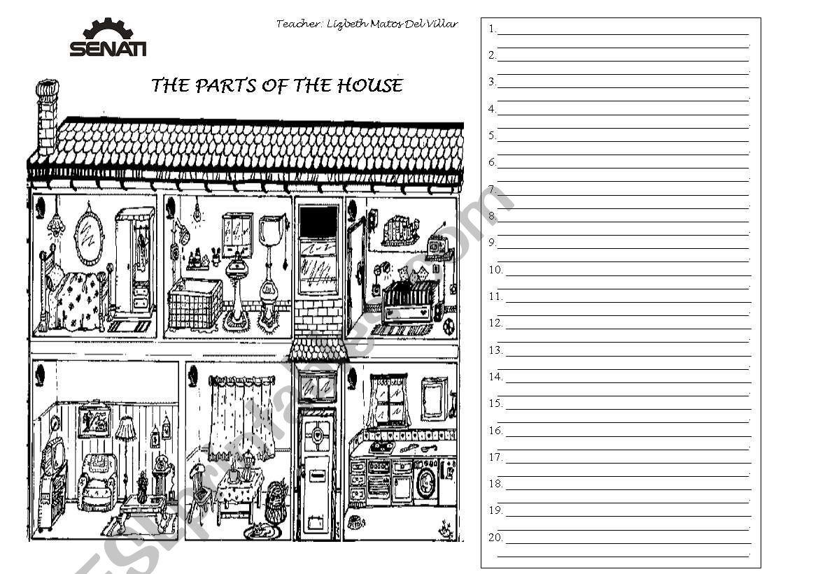 Describing Parts Of The House