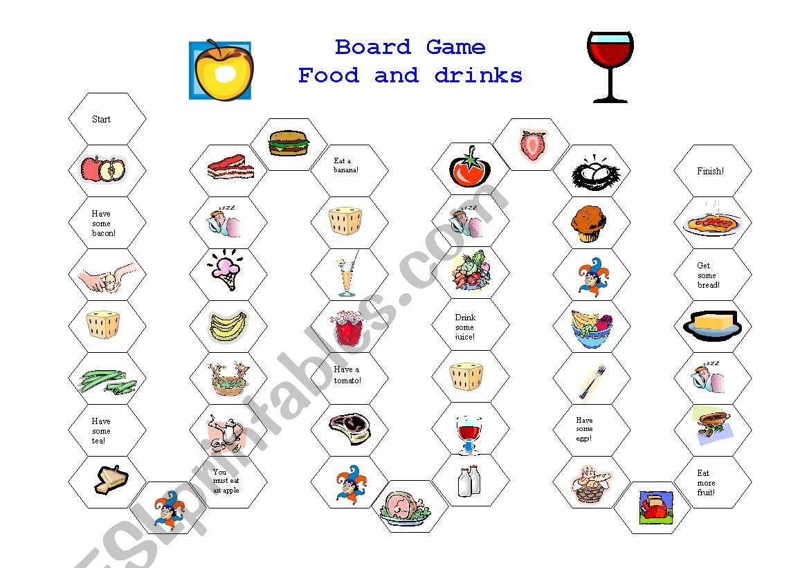 Board Game Food And Drink